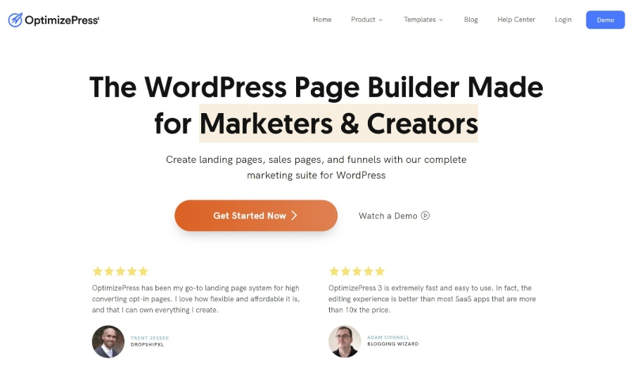OptimizePress WordPress landing page plugin