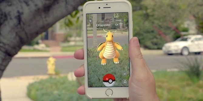 Screen capture of Pokemon Go