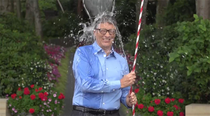 Ice bucket challenge screenshot