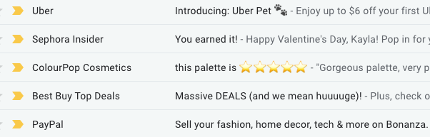 Personalized email examples