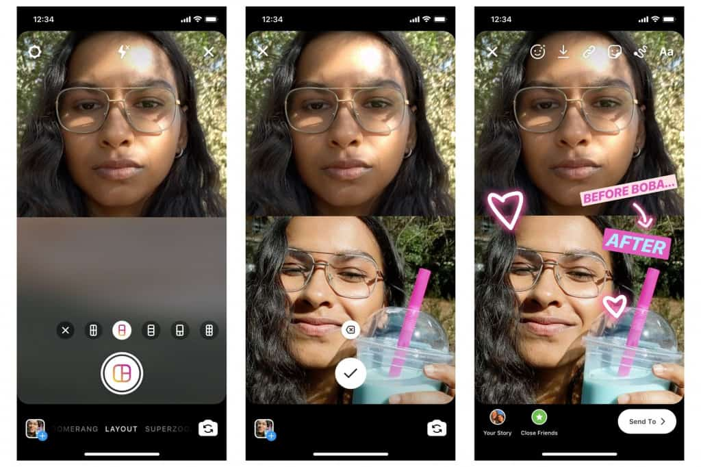 New Instagram Layouts for Stories