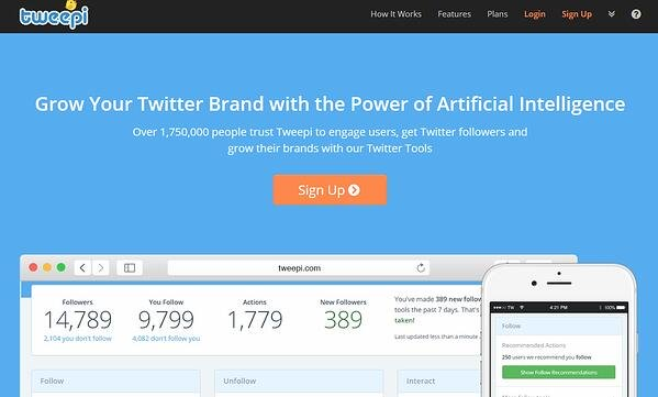 Grow your Twitter brand with Tweepi AI