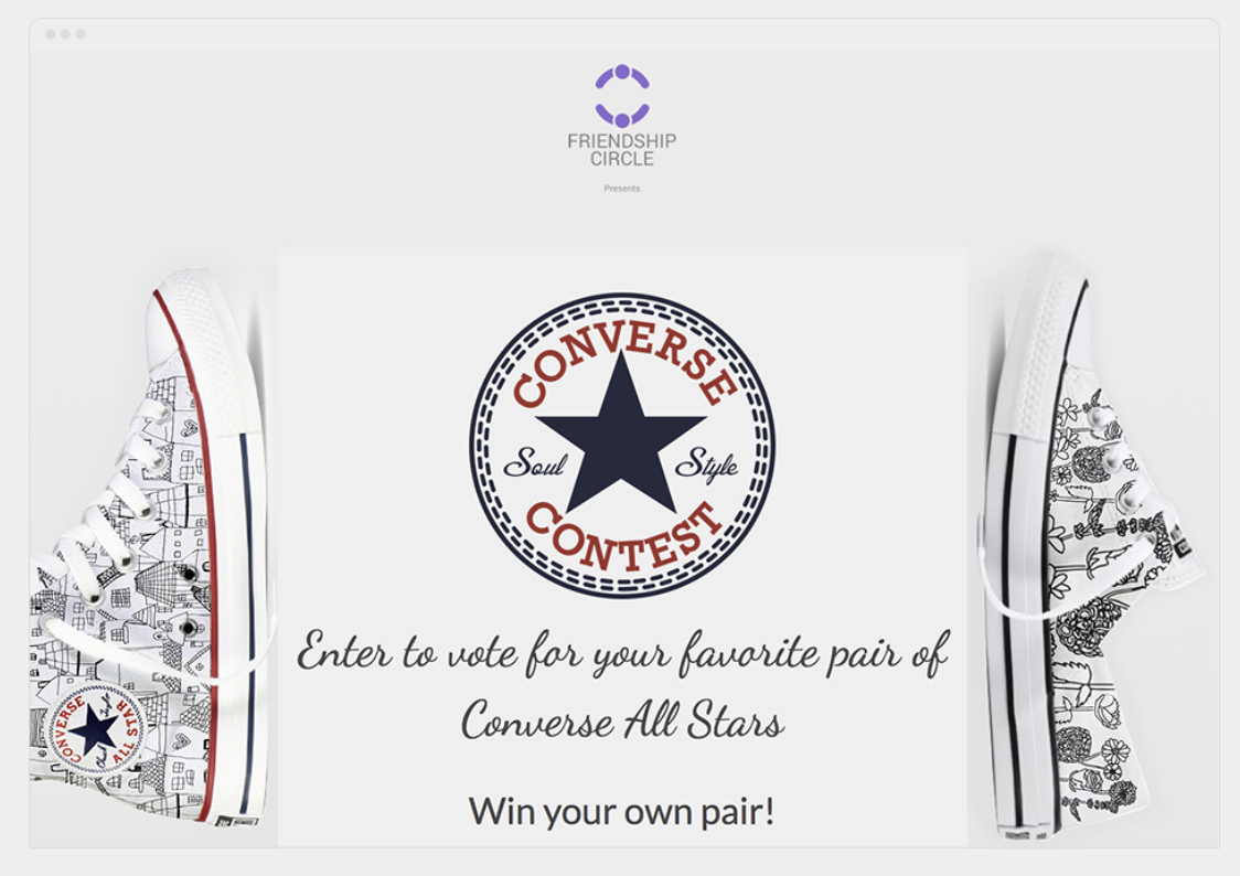 facebook contest example converse