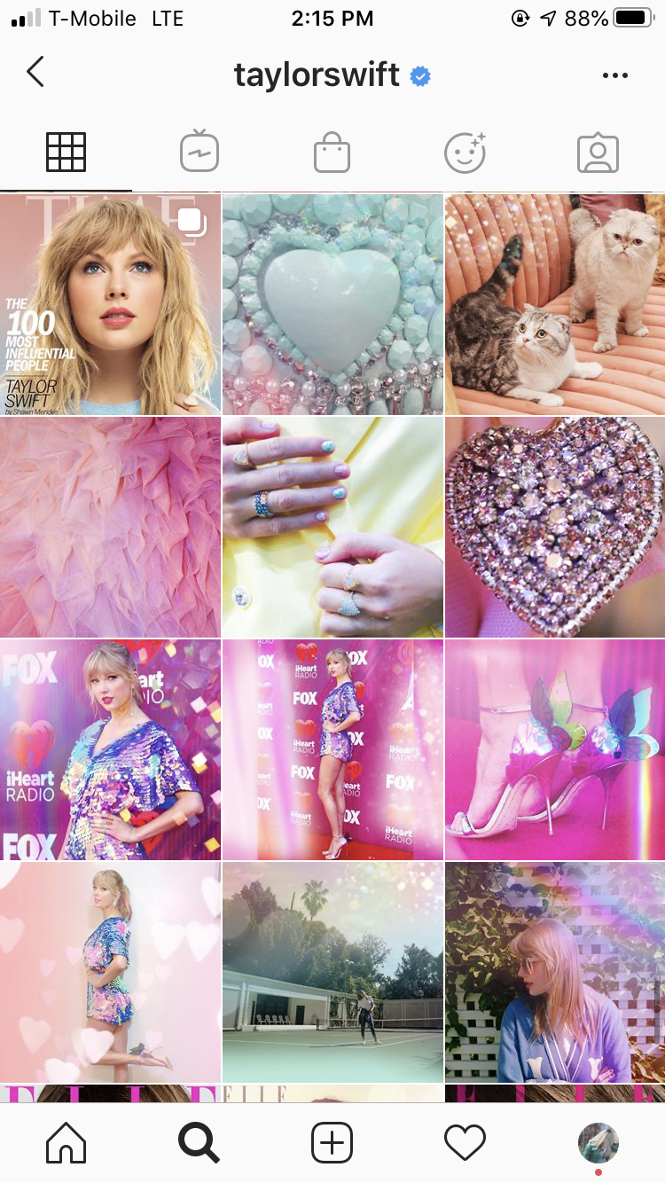 """Taylor Swift's """"Lover"""" album campaign on Instagram"""