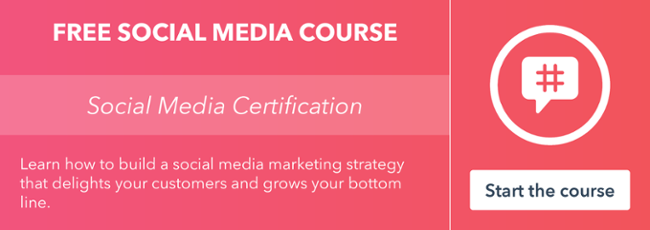 Get certified in social media by HubSpot Academy!