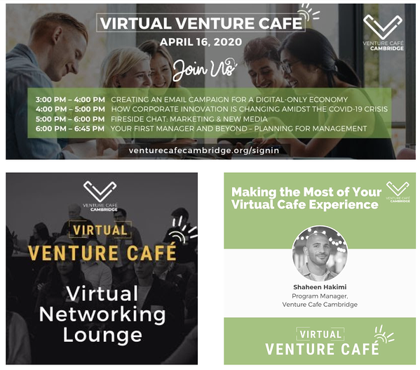 Venture cafe virtual events for small businesses