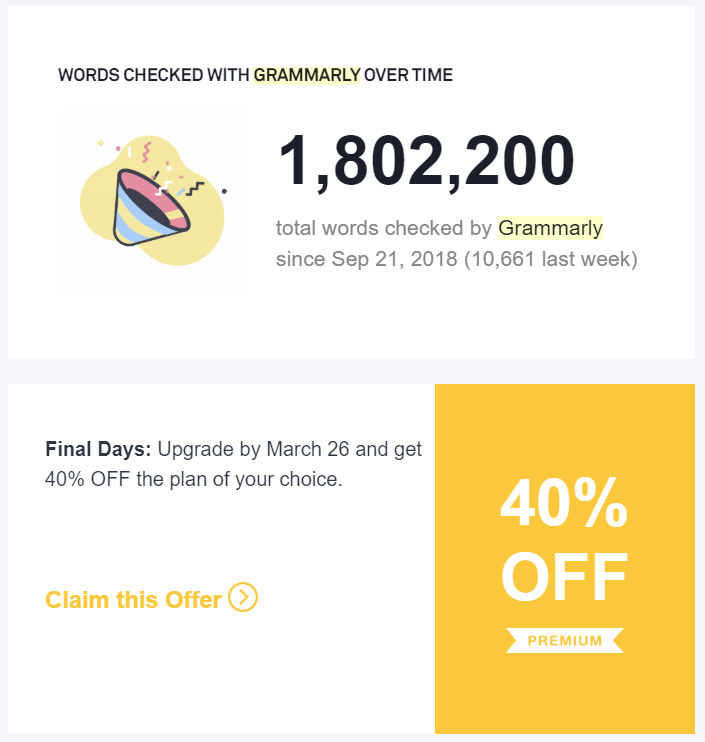 Decision stage email example by Grammarly.