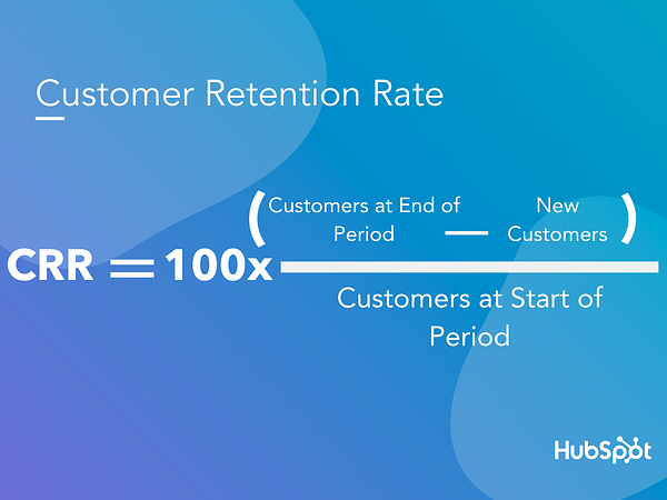 Customer retention rate formula.