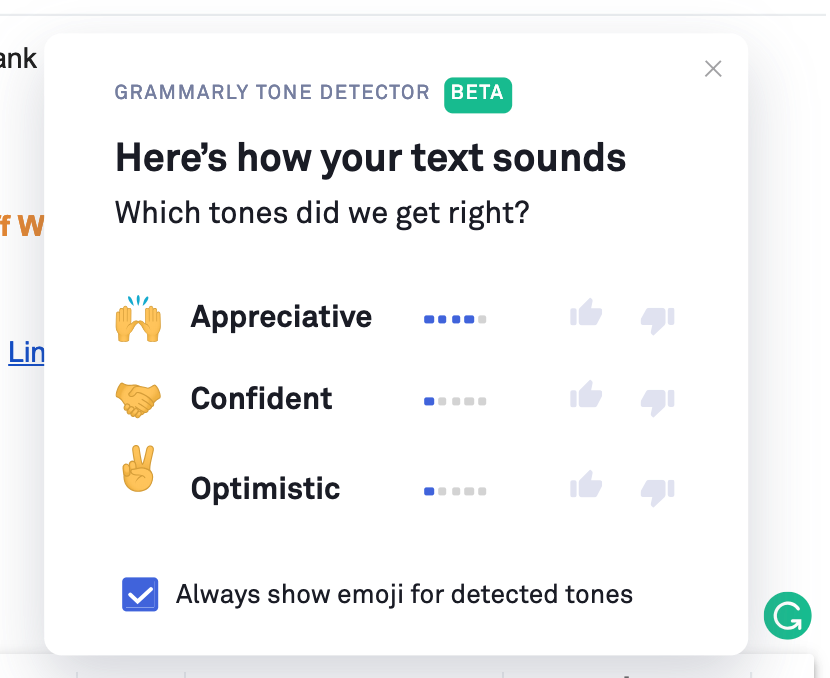 Grammarly gives email suggestions with AI