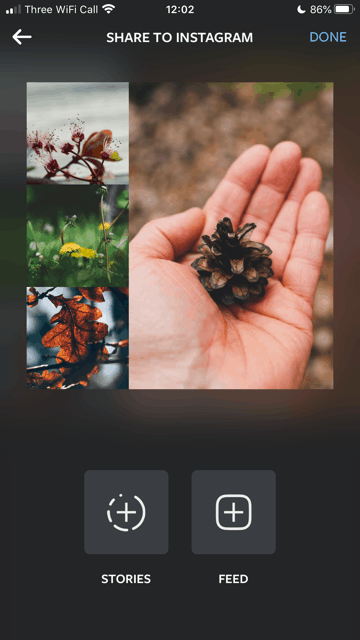 An image showing the Layout app's interface.
