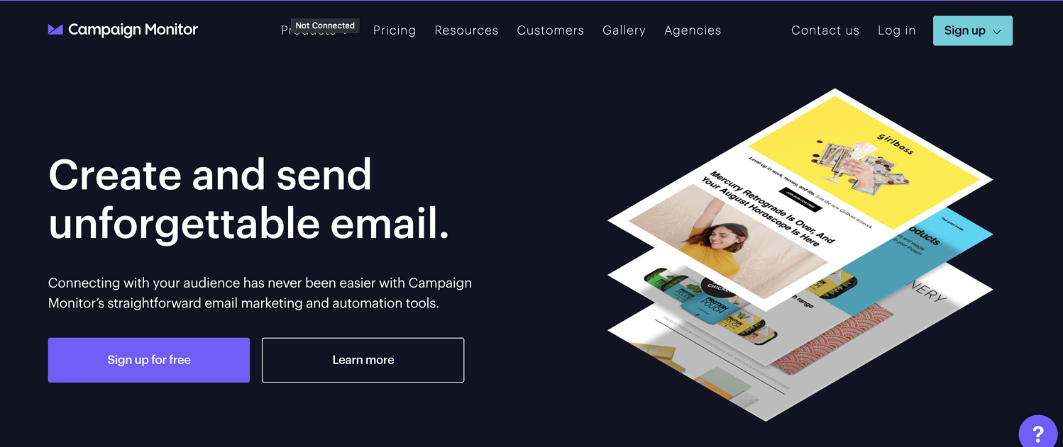 campaign monitor email marketing service