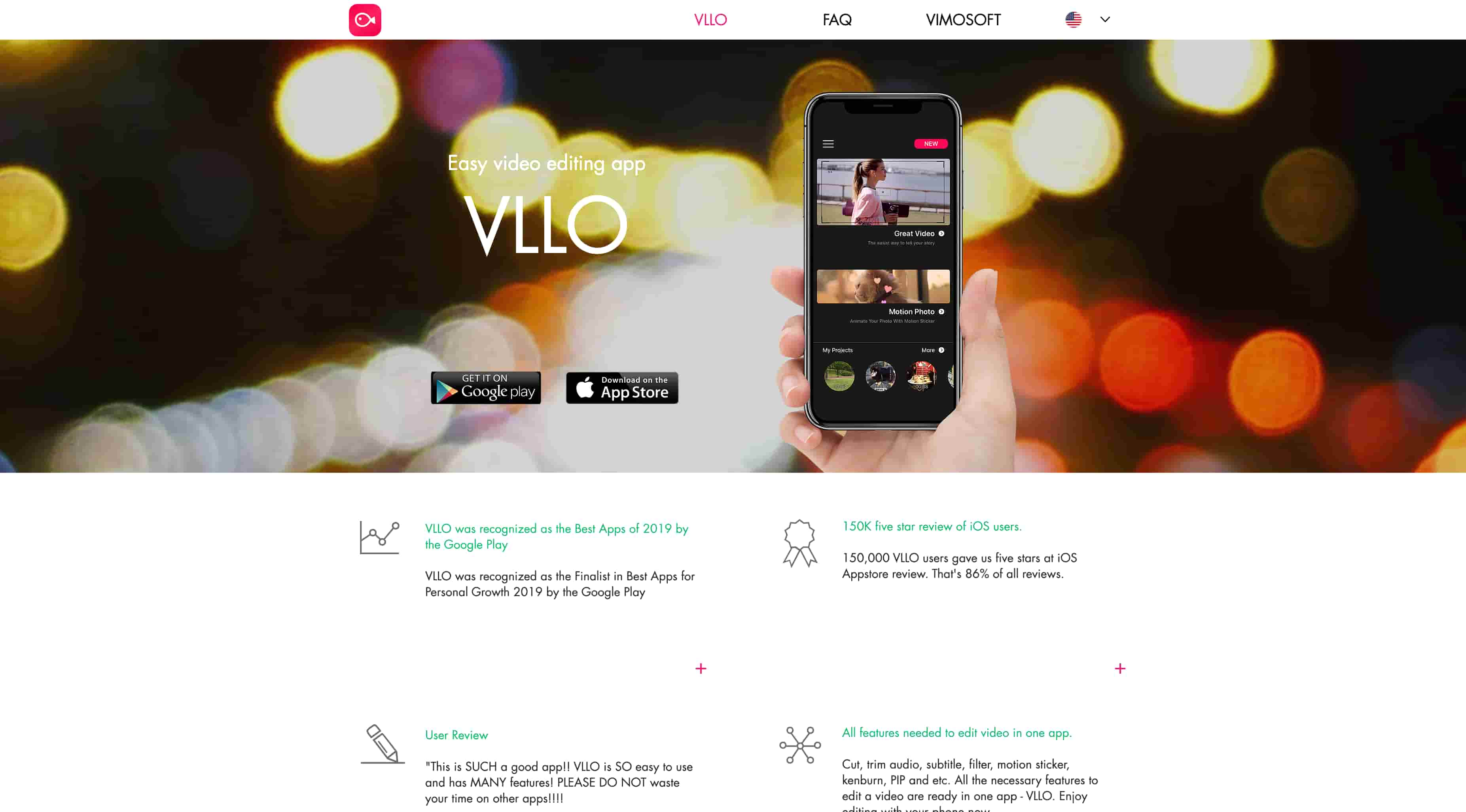 VLLO - Screenshot of Website