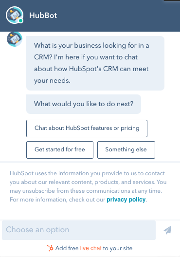 A personalized chatbot example.