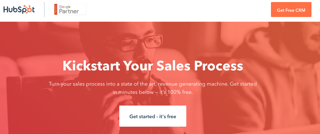 Example of a good landing page.