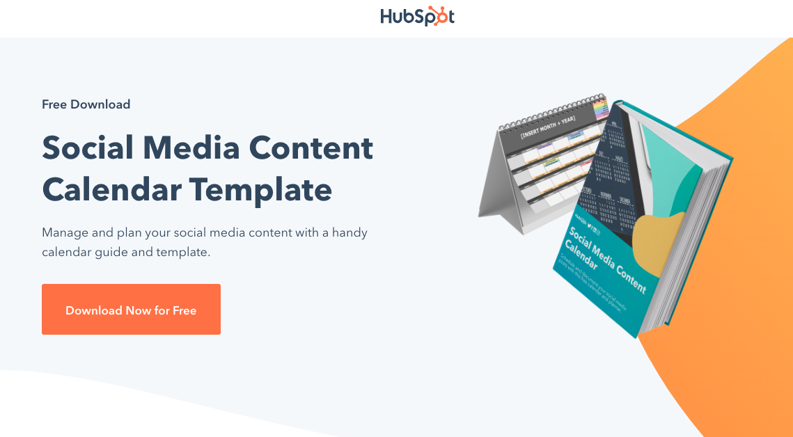Example of a HubSpot offer landing page.