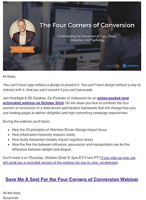 Unbounce comarketing promotional email