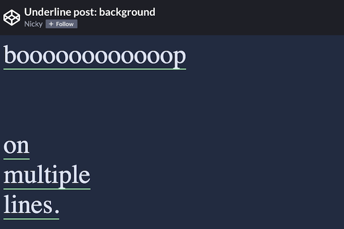 A CSS-only, animated, wrapping underline