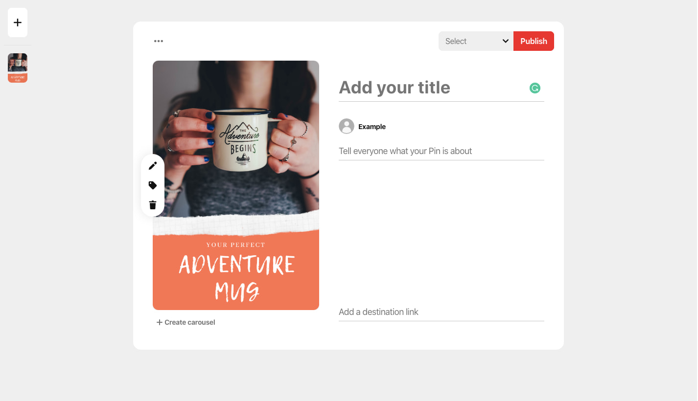 pinterest a/b testing ad example (a)
