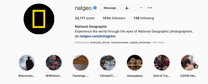 Another example of Instagram Highlight Covers.