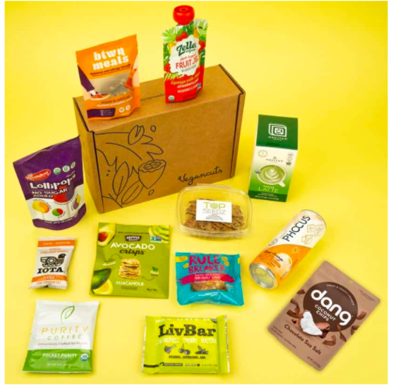 Example of a snackbox from Vegancuts.