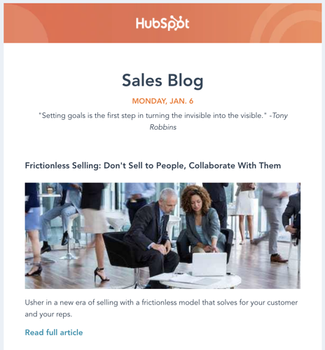 how to promote your blog email