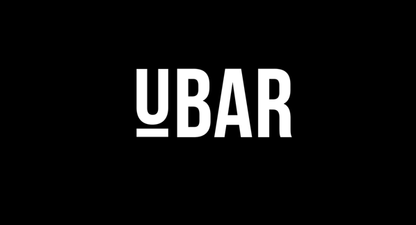 minimalist monochrome logo with a line underneath the first letter