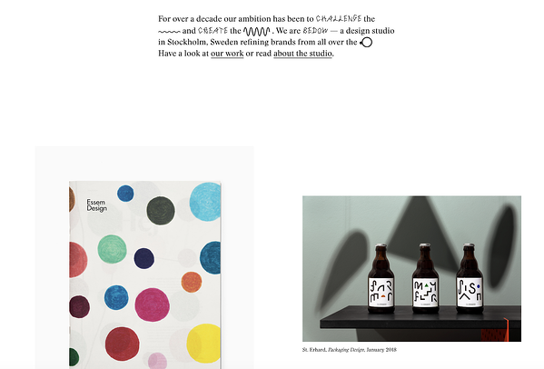 minimalist web design without elements, opting for text and images only