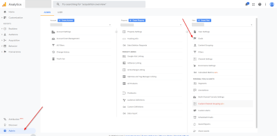 Google Analytics Goals - Accessing Goals in Admin Section
