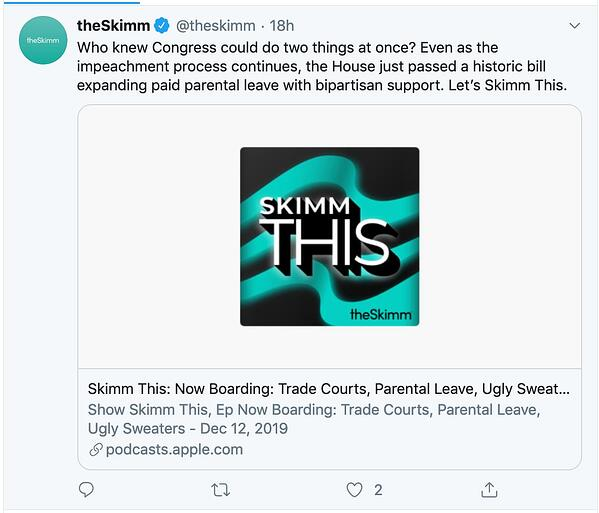 The Skimm showcases its personality through brand messaging.