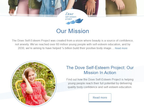 dove's mission statement brand messaging