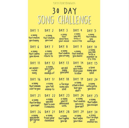 Pick a song challenge on Instagram.