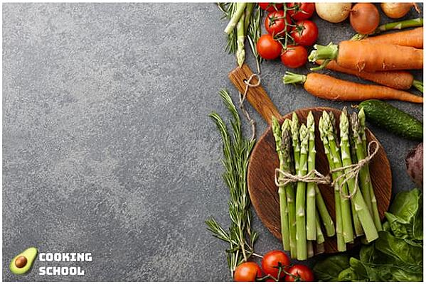 """Facebook ad image from """"Cooking School"""" with acceptable text overlay."""