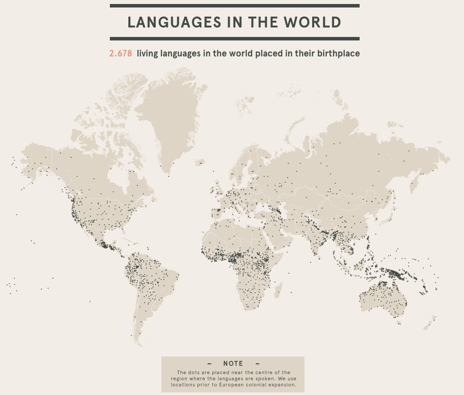 languages in the world data visualization example