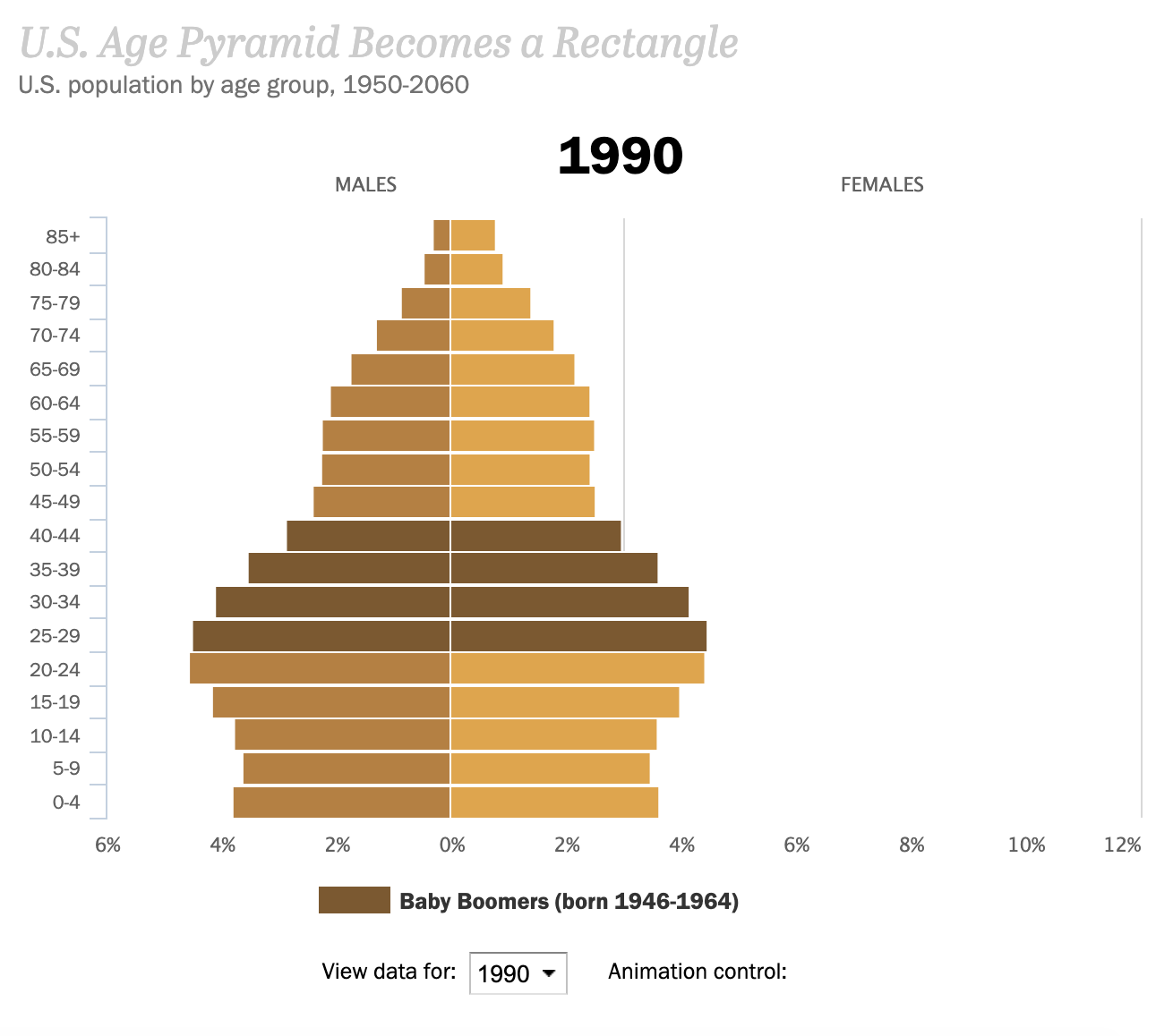 us age pyramid becomes a rectangle data visualization example