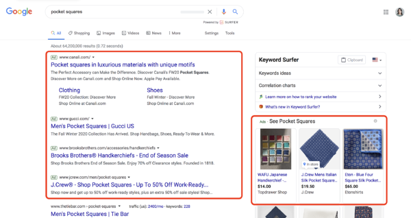 types of google ads search ads campaigns