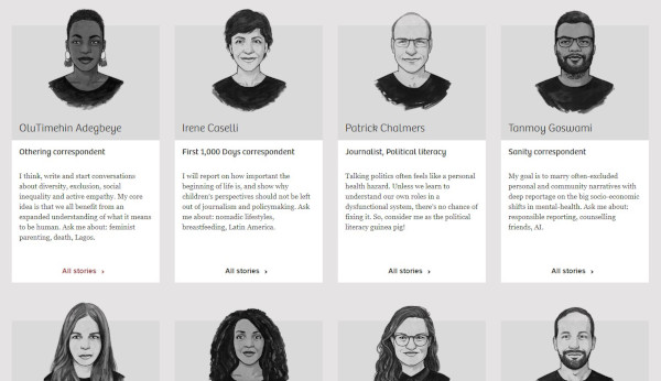 the correspondent meet the team page