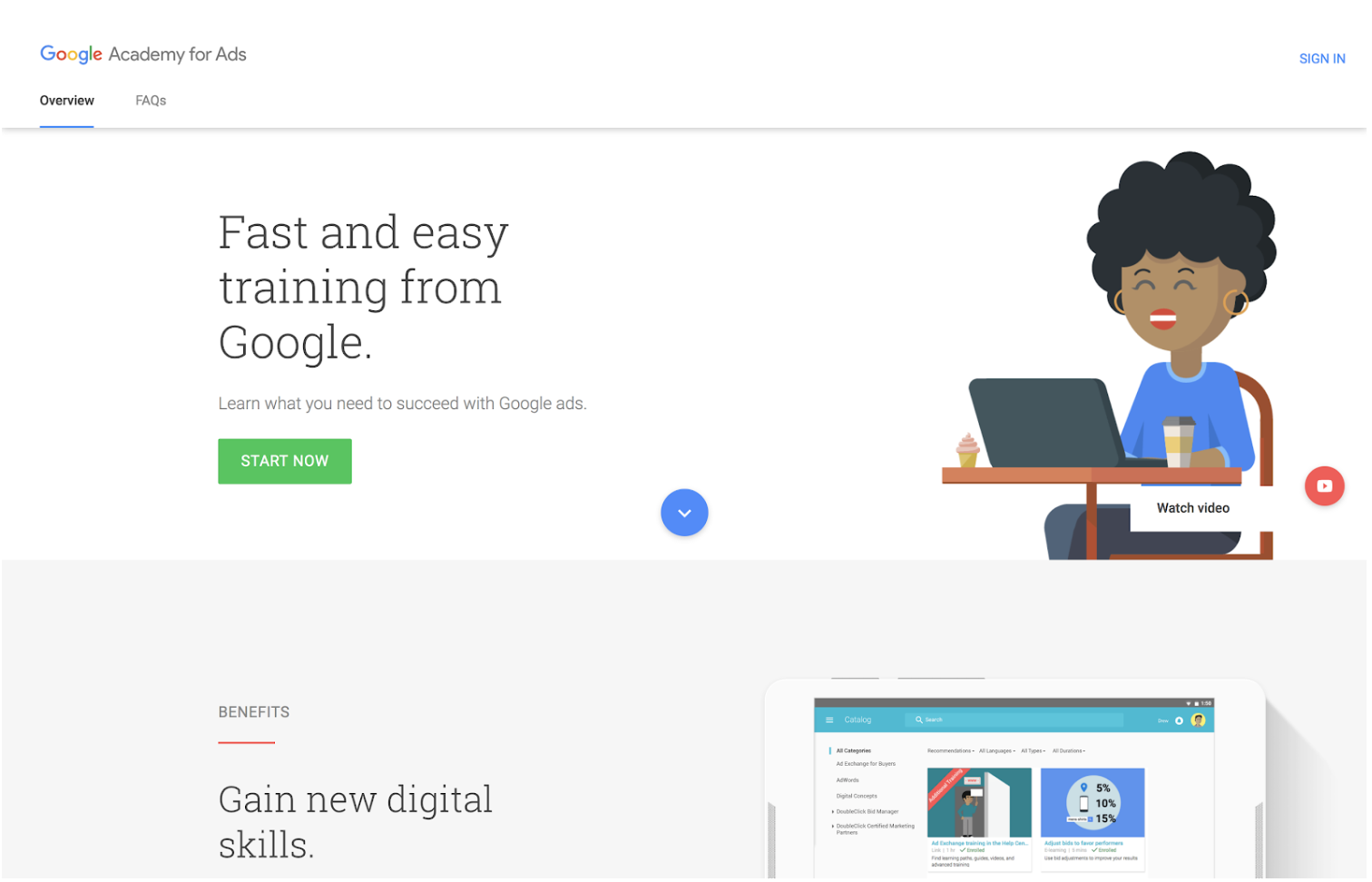 Google Academy example