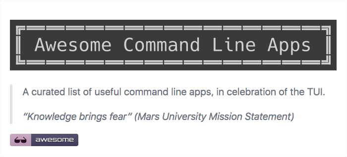 Awesome Command Line Apps
