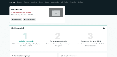 Screenshot of a project page for a sample project