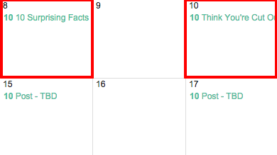 Changing Name of Post in Google Editorial Calendar