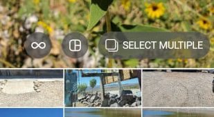 """Instagram """"Select Multiple"""" Feature for Carousel Posts"""
