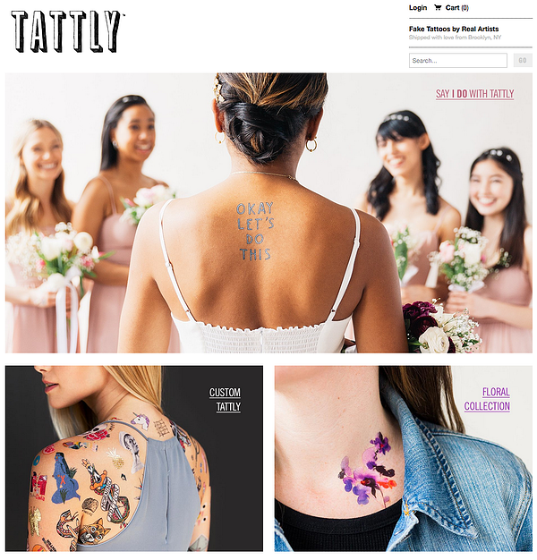 tattly Example of Inspiring Shopify Ecommerce Stores