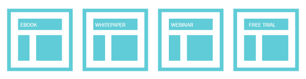 Landing page types example.