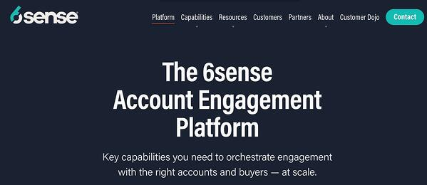 6sense account engagement ad management tool