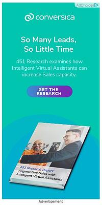"conversica google display ad that reads ""so many leads, so little time, 451 research examines how intelligent virtual assistants can increase sales capacity. get the research"""