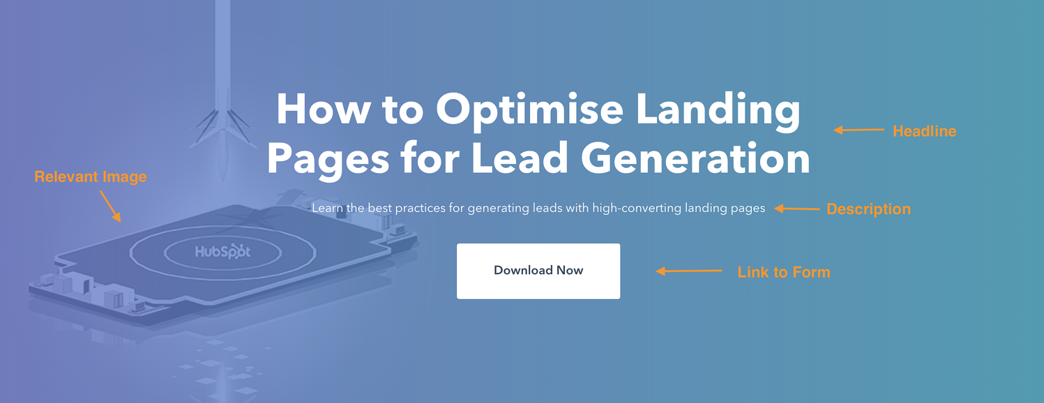 landing page hero section